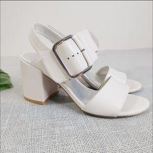 Stuart Weitzman Double Strap Block Heel Sandals